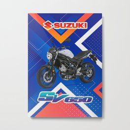 Suzuki SV650 Motorcycle Metal Print