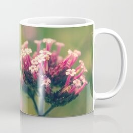 Spring Blooming Pink Flowers with Green Bokeh Background Coffee Mug