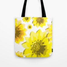 Retro Sunflowers Tote Bag