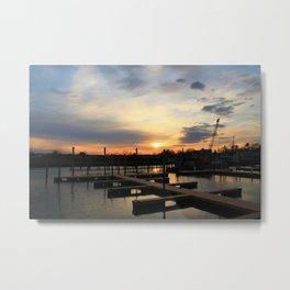 Empty Docks Metal Print