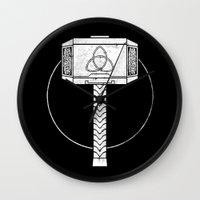 thor Wall Clocks featuring THOR! by John Medbury (LAZY J Studios)
