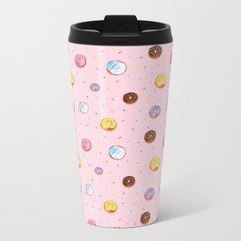 Donuts Metal Travel Mug