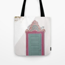 Decorative Door and Vines Tote Bag