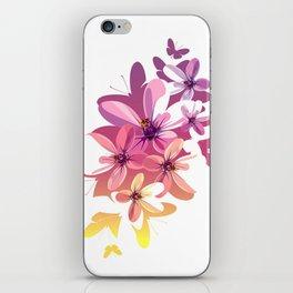 Flower Butterflies iPhone Skin