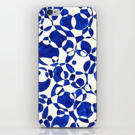 Blue Circle Composition iPhone Skin