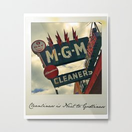 Cleanliness Is Next to Godliness Metal Print