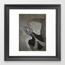 Sultry Swimmer Framed Art Print