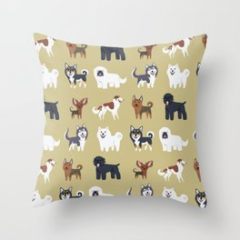 RUSSIAN DOGS Throw Pillow