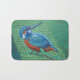 Kingfisher & Code (I KNOW It Means SOMEthing...) Bath Mat