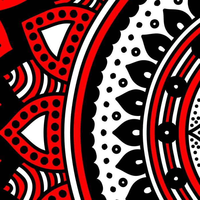 Red and Black Mandala Leggings
