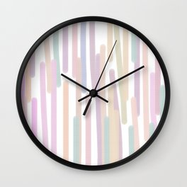 Geom lines on white sweet pink Wall Clock