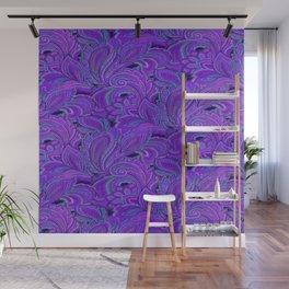 paisley paisley purple Wall Mural