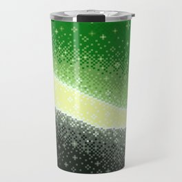 Aromantic Pride Flag Galaxy Travel Mug