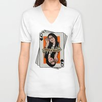 alex vause V-neck T-shirts featuring Vause - The Queen of Hearts by Vague