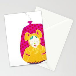wabbit in a bag - neon version Stationery Cards