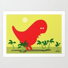 Tiranosaur Art Print