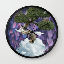 Live On A Cloud Wall Clock