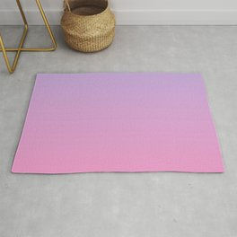 Pink and Purple Sunset Inspired Color Gradient Rug