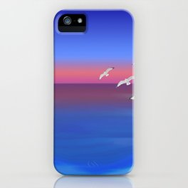 Where the ocean meets the sky iPhone Case