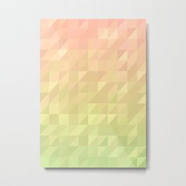 Pink and Green - Flipped Metal Print