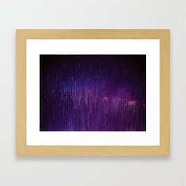 STARFIELD TIME COLLAPSE I Framed Art Print