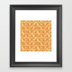 Scattered Leaves on Beige Framed Art Print