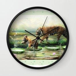 Tiger Lilies Wall Clock