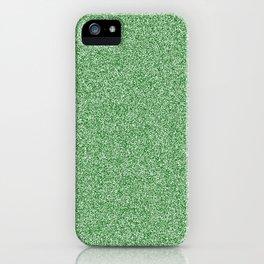 Melange - White and Dark Green iPhone Case