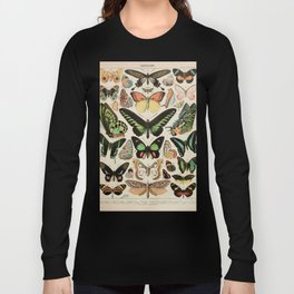 Papillon II Vintage French Butterfly Chart by Adolphe Millot Long Sleeve T-shirt