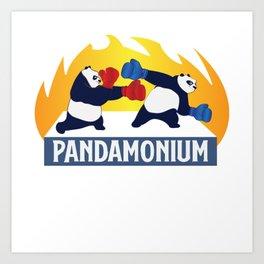 Funny Panda Pandamonium Bear China Sichuan Gift Art Print
