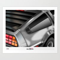 delorean Art Prints featuring DELOREAN • ICON1 by Dylan Rose