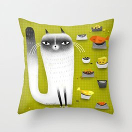FINICKY Throw Pillow