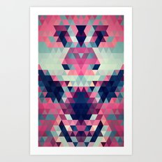 Abstract Triangle Donkey Art Print