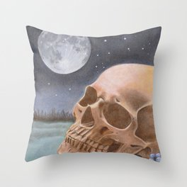 The Graveyard Shift Throw Pillow