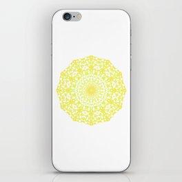 Mandala 12 / 4 eden spirit yellow iPhone Skin