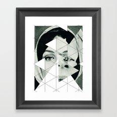 Frau mit Dreieck 3 Framed Art Print