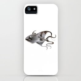 magic cartoon fish, fairy tale character. Water animal fish with long tail. iPhone Case