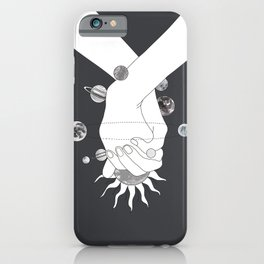 Everything Revolves Around Us II iPhone Case