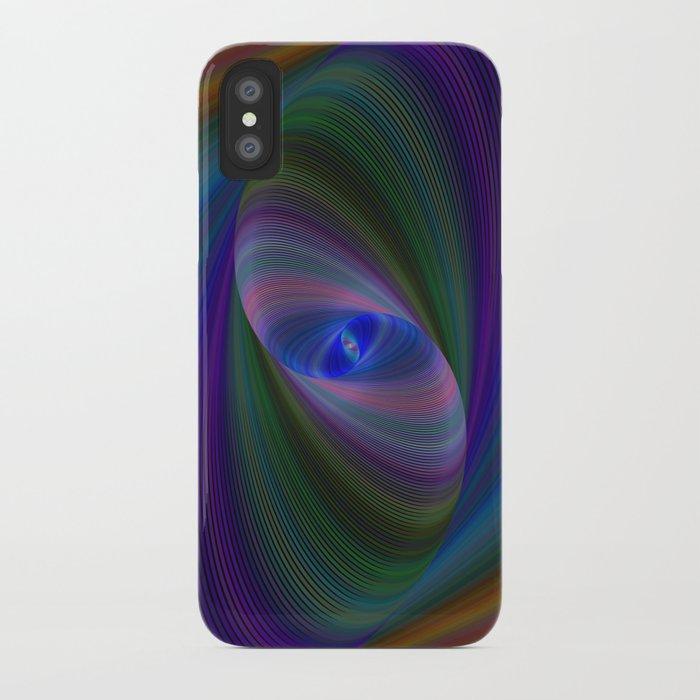 Elliptical fractal iPhone Case