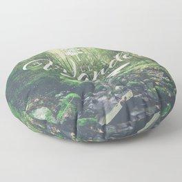 Mountain of solitude - text version Floor Pillow