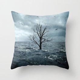 Sea Tree Throw Pillow