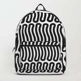 Super Black and White Liquorice laces Backpack