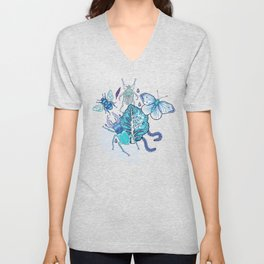 Frozen bugs in the garden Unisex V-Neck