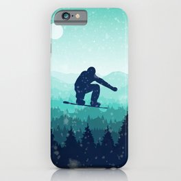 Snowboard Skyline II iPhone Case