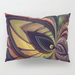 Aliën mask, fractal abstract Pillow Sham