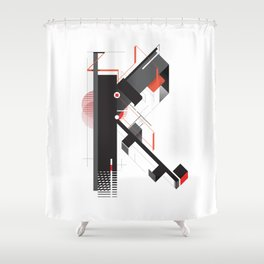 Abstract K Shower Curtain