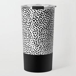 Dots and Black Travel Mug