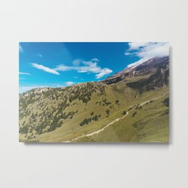 View Hiking up Iztaccihutal Volcano, Mexico City 2 Metal Print