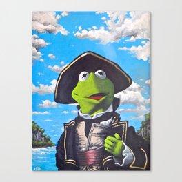 Kermit Captain Smollett Canvas Print