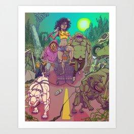 Dystopian Queen Art Print